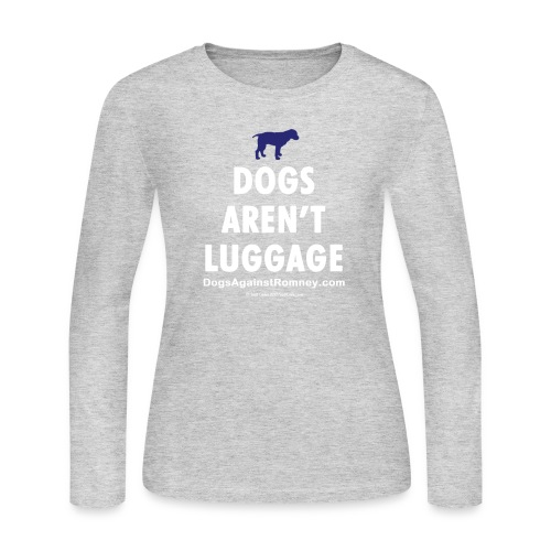 dogsarentluggage blueandwhite - Women's Long Sleeve Jersey T-Shirt