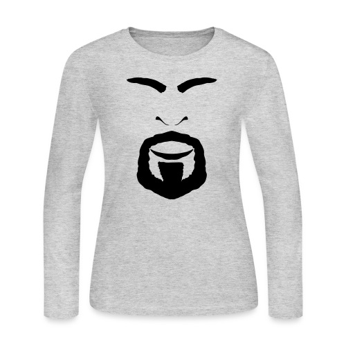 FACES_ANGRY - Women's Long Sleeve Jersey T-Shirt