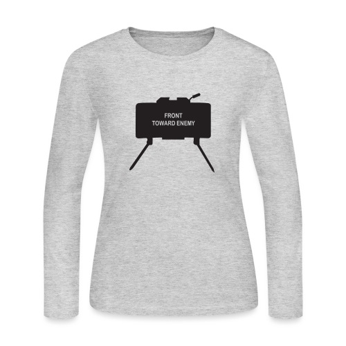 Claymore Mine (Minimalist/Dark) - Women's Long Sleeve Jersey T-Shirt