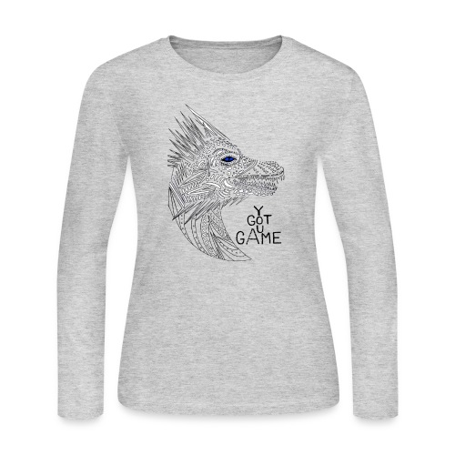 Blue eye dragon - Women's Long Sleeve Jersey T-Shirt