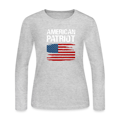 Patriotic American - Women's Long Sleeve Jersey T-Shirt