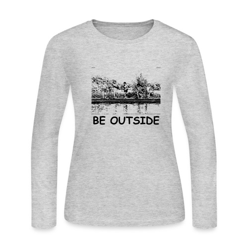 Be Outside - Women's Long Sleeve Jersey T-Shirt