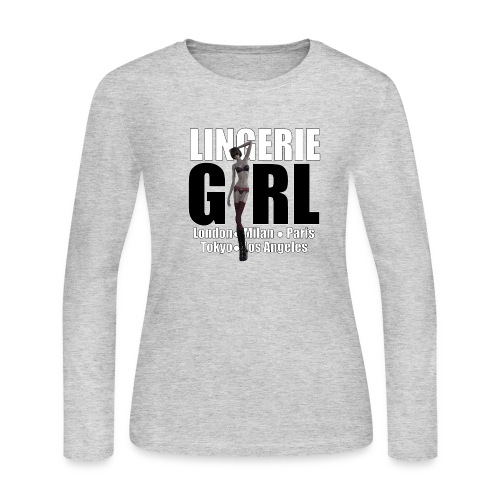 The Fashionable Woman - Lingerie Girl - Women's Long Sleeve Jersey T-Shirt