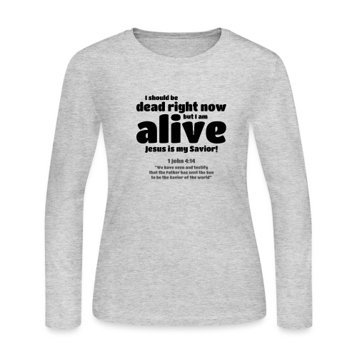 I Should be dead right now, but I am alive. - Women's Long Sleeve Jersey T-Shirt