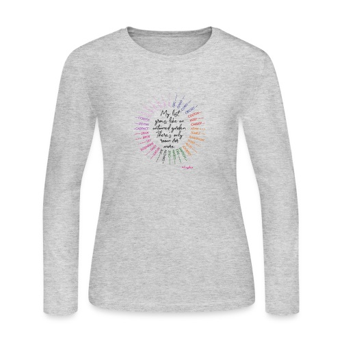 Rose's Garden - Women's Long Sleeve Jersey T-Shirt