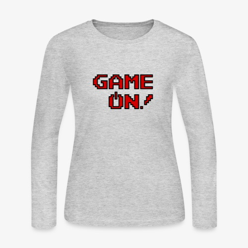 Game On.png - Women's Long Sleeve Jersey T-Shirt