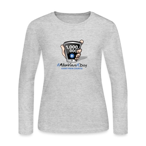 AMillionViewsADay - every view counts! - Women's Long Sleeve Jersey T-Shirt
