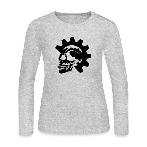 Gearhead Skull - Women's Long Sleeve Jersey T-Shirt