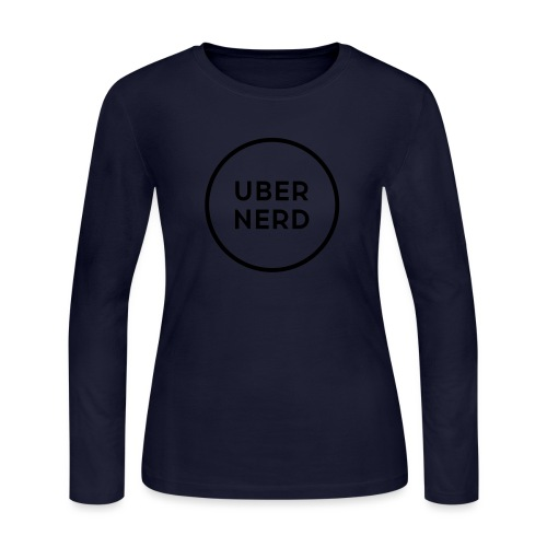 uber nerd logo - Women's Long Sleeve Jersey T-Shirt