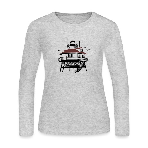 Lighthouse Drawing Illustration - Women's Long Sleeve Jersey T-Shirt