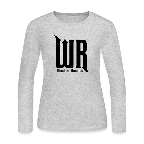 Wachler Records Dark Logo - Women's Long Sleeve Jersey T-Shirt
