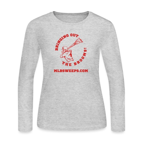 MLB Sweeps Logo and tagline with URL (Light) - Women's Long Sleeve Jersey T-Shirt