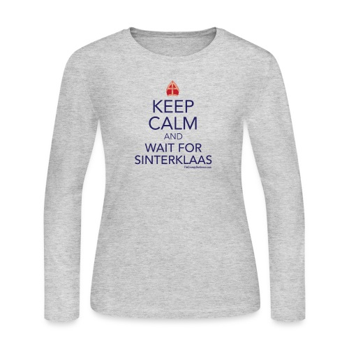 keepcalm01 crop - Women's Long Sleeve Jersey T-Shirt