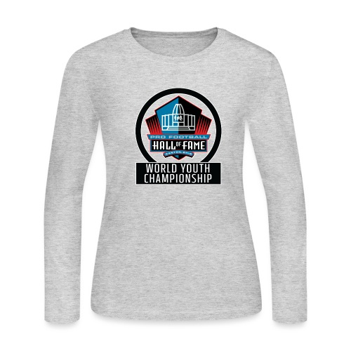 PFHOF World Youth Champ White Outline - Women's Long Sleeve Jersey T-Shirt