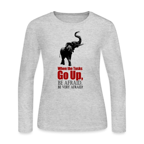 When the trunk goes up Be - Women's Long Sleeve Jersey T-Shirt