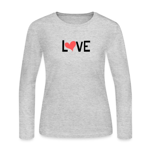 LOVE heart - Women's Long Sleeve Jersey T-Shirt