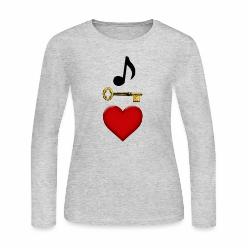 Music is Key to My Heart - Women's Long Sleeve Jersey T-Shirt