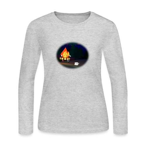 'Round the Campfire - Women's Long Sleeve Jersey T-Shirt