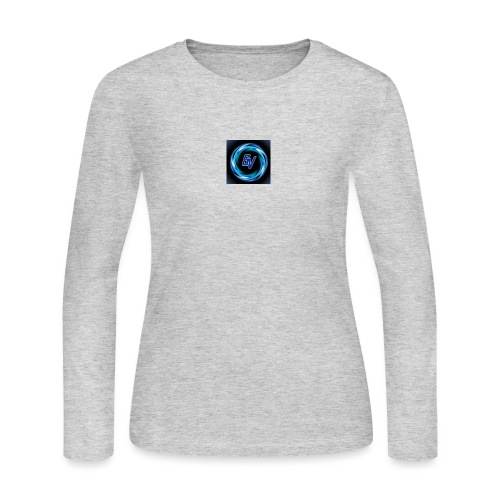 MY YOUTUBE LOGO 3 - Women's Long Sleeve Jersey T-Shirt