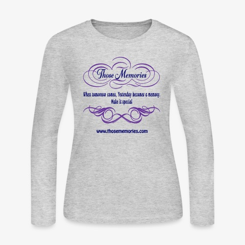 Those Memories Logo - Women's Long Sleeve Jersey T-Shirt