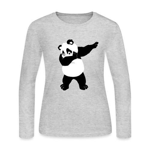 Dabbing Bear - Women's Long Sleeve Jersey T-Shirt