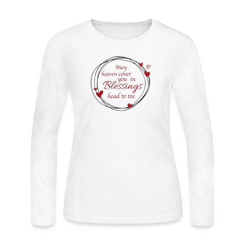Blessings head to toe hearts - Women's Long Sleeve Jersey T-Shirt