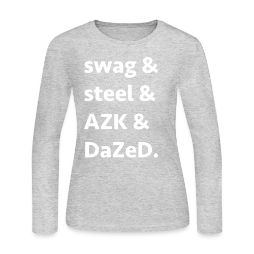 ssad white letters - Women's Long Sleeve Jersey T-Shirt