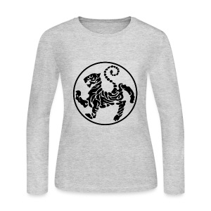 Shotokan-Tiger_black - Women's Long Sleeve Jersey T-Shirt