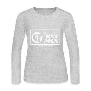 Banzai Raygun Rectangle Logo - Women's Long Sleeve Jersey T-Shirt