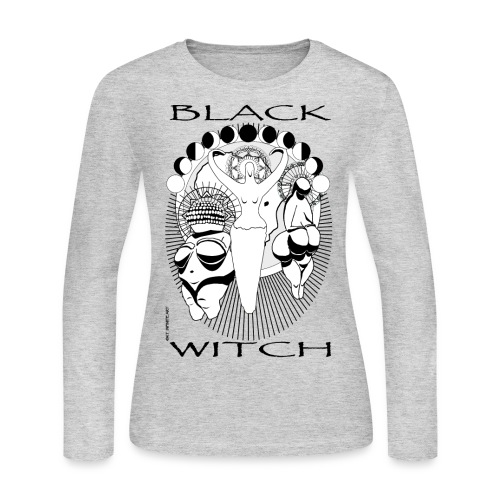 khem witch PNG copy - Women's Long Sleeve Jersey T-Shirt