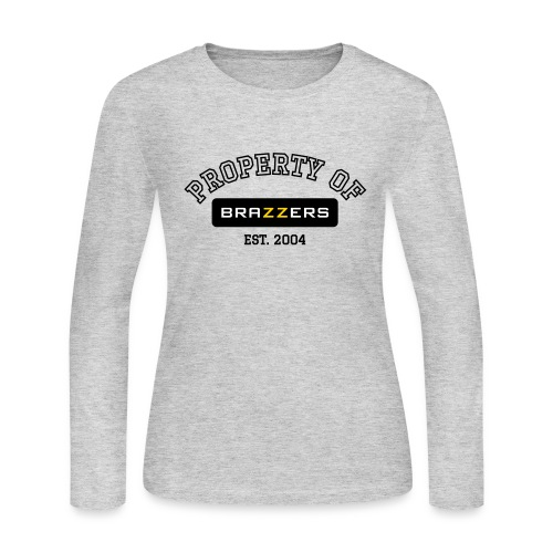 Property of Brazzers logo outline - Women's Long Sleeve Jersey T-Shirt