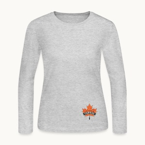 I WAS MADE IN CANADA -Linen -Carolyn Sandstrom - Women's Long Sleeve Jersey T-Shirt