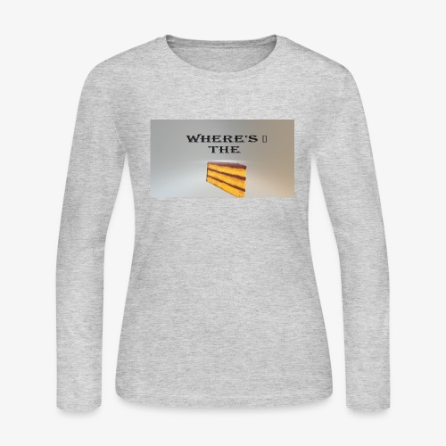WHERE'S THE CAKE - Women's Long Sleeve Jersey T-Shirt
