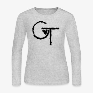 Blurred Logo - Women's Long Sleeve Jersey T-Shirt