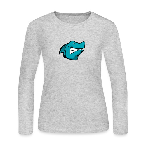 JustAFish Shark Logo - Women's Long Sleeve Jersey T-Shirt