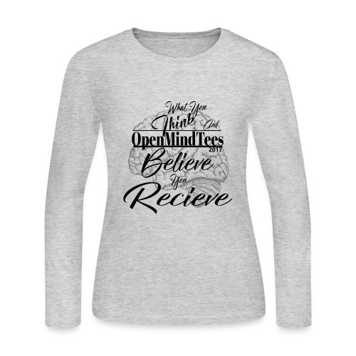 OpenMindTees logo Law Of Attraction Affirmation - Women's Long Sleeve Jersey T-Shirt