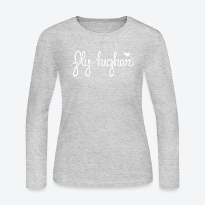 Fly Higher - White - Women's Long Sleeve Jersey T-Shirt