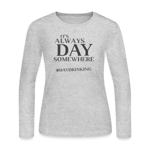 Day Drinking - Women's Long Sleeve Jersey T-Shirt