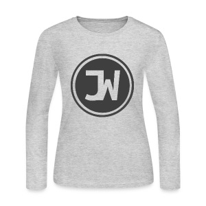 Grey Johannes With Logo - Women's Long Sleeve Jersey T-Shirt