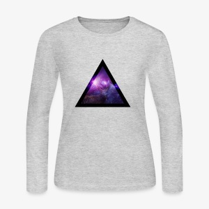 Galaxy with Deer - Women's Long Sleeve Jersey T-Shirt