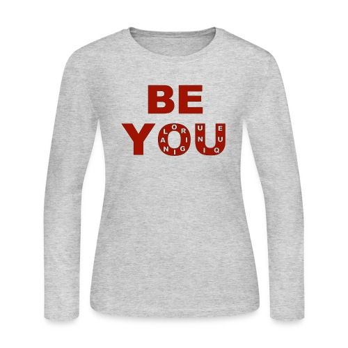 BE YOU design by Eugenie Nugent - Women's Long Sleeve Jersey T-Shirt
