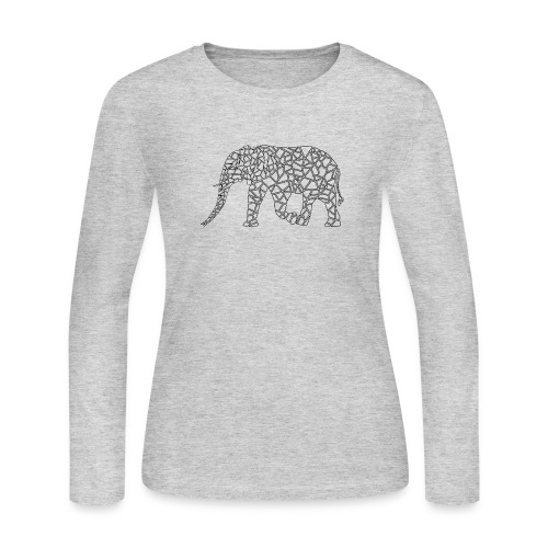 Elephant Geometric - Women's Long Sleeve Jersey T-Shirt