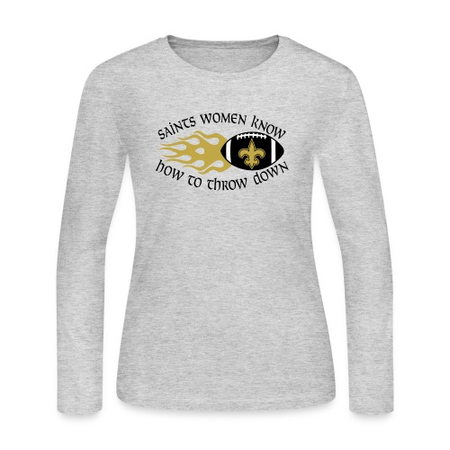 Saints Women Throwdown Light - Women's Long Sleeve Jersey T-Shirt