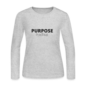Purpose over potential - Women's Long Sleeve Jersey T-Shirt