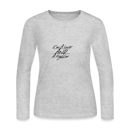 I'm A Lover And A Fighter - Women's Long Sleeve Jersey T-Shirt