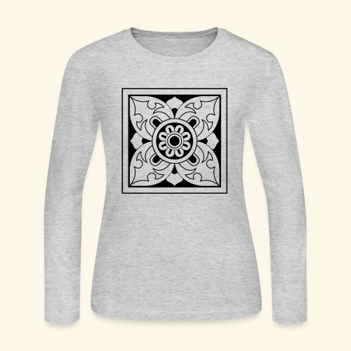 ceylon collection front 1 - Women's Long Sleeve Jersey T-Shirt