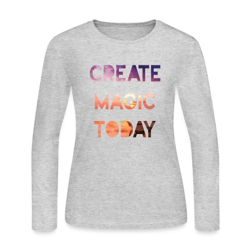 Create Magic Today - Sunset - Women's Long Sleeve Jersey T-Shirt