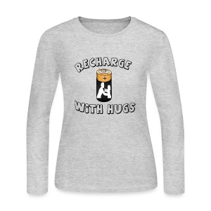 Recharge with hugs - Women's Long Sleeve Jersey T-Shirt