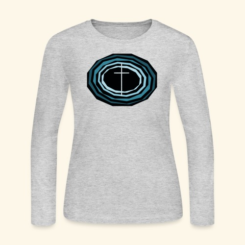 Cross Wheel - Women's Long Sleeve Jersey T-Shirt