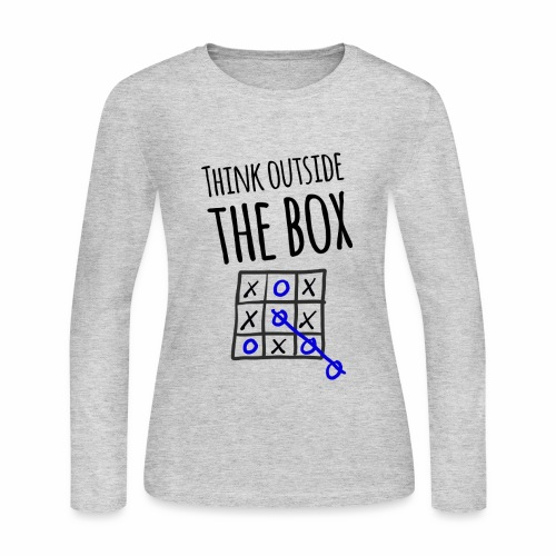 Think Outside the Box - Women's Long Sleeve Jersey T-Shirt